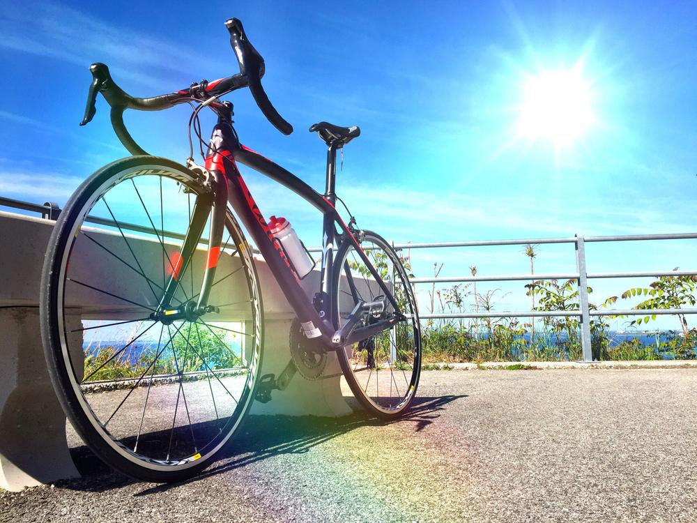 Racing road bike is waiting for its rider!