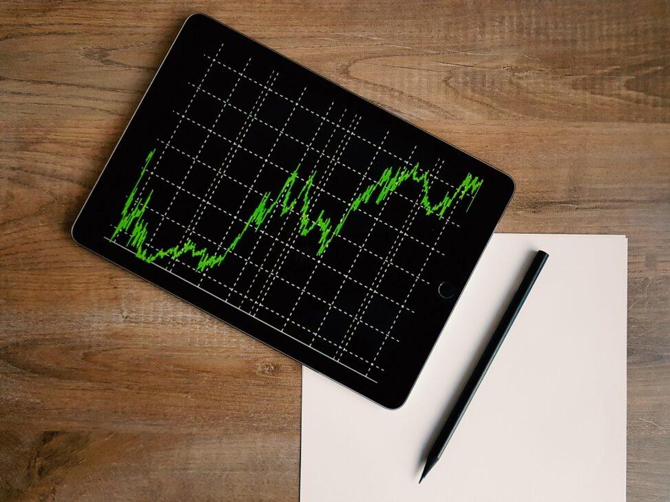 wykres giełdowy